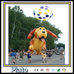 Amusement funny inflatable happy puppy model for advertisement and decoration
