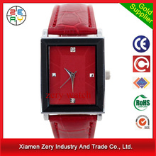 R0169 (*^__^*) Leather strap quartz couple lover wrist watch, wrist watch leather watches 3atm water resistant stainless steel