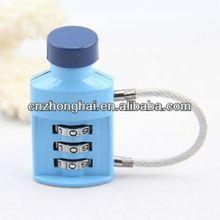 Mini en forma de botella de bloqueo de equipaje candado código/codificado de bloqueo de equipaje