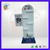 pop bolster paper holder display rack ,pop blanket display ,pop body care products cardboard display