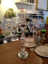 crystal candle holders wedding flower stands table decorations