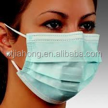3ply nonwoven disposable face mask in blue green white pink with nose wire