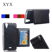 mobile phone accessory top quality leather flip cover for wiko phone