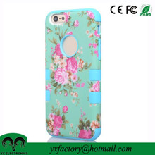 new products 2015 innovative product 3 in 1 rose flower pc silicon fancy mobile phone covers