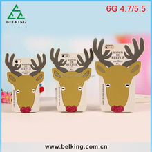 Christmas Gift cute deer case for iPhone 5 for iPhone 6 Plus, for iPhone 6 cute deer case