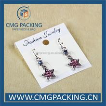 Newest Custom Printed Earring Cards/Brand Logo custom printed necklace earring cards