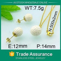 alluring earring and pendant jewelry set in latest design kalen