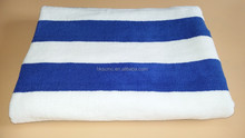 High quality white and blue 100% cotton hotel bathroom towel