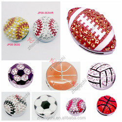 Wholesale fashion 8mm sports ball slide charms, crystal heart slide charms,flower slide charms