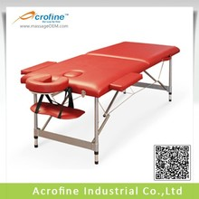 Acrofine folding aluminum massag table with good quality ANLITE structure