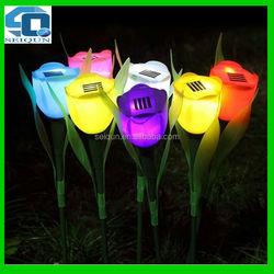 hot sale outdoor stick tulip flower led solar garden light , led garden light , solar garden led light