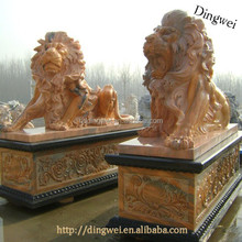 Stone Big Lion Statues