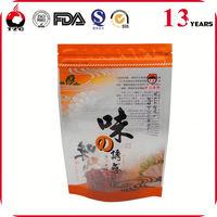 Custom colored printing clear plastic slide medicine eco friendly pvc waterproof zip lock bag