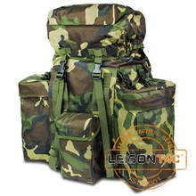 Military Backpack with Metal Frame Nylon ISO standard with Nylon Thread Stitched