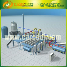 2013 Latest continuous waste tyre recycling pyrolysis plant