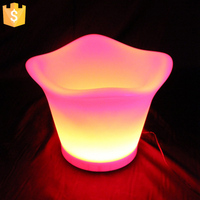 Cool Party LED Ice Bucket Double Layer Event Night Club KTV LED Beer RGB Color-Changing Flashing Light ice Wine Buckets