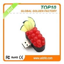 Bulk free samples low price wholesale sushi usb flash drive 4gb