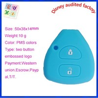New arrival practical silicone car key pouch for Corolla, car remote key control cover case