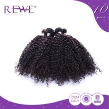 Natural Color Kinky Curly Thin Shenzhen Very Good Hair Thicker Make Women