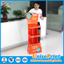 Chocolate/ Snack/Nuts display counter, corrugated sheet display stand