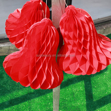Manufacturer christmas bell decoration honycomb paper