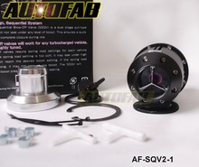 AUTOFAB -- Adjustable Blow off value SQV2 BOV (black) Original color box and Logo AF-SQV2-1