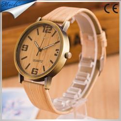 Fashion luxury vintage watch 5 color world Dial wood grain Wristwatches casual bracelet watch outdoor Sports men women LW004