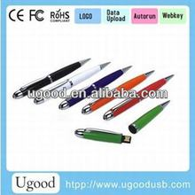 With Laser LED Light Colorful USB Pen ,functional usb pen as usb gift