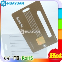 Business Travelling Luggage PVC Luggage Key tag Card for bags