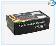 CLRD brand 8 pieces li-ion battery charger for 18650 18490 18500 18350 14500 10440 26650 battery