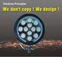 Off road club! Oledone 120W Round led driving lights for 4wd,construction,jeep, WD-RL120