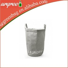 cotton fabric laundry handbag