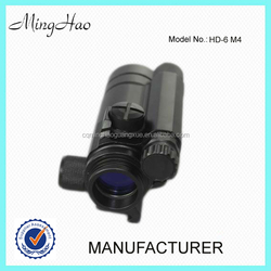 Minghao HD-6 M4 ACOG reticle air gun rifle scope with laser