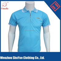 custom embroidery logo polo t shirt with collar zipper
