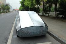 aluminum film + EPE & non-woven hail proof car cover company cheap price,folding car garage at factory price