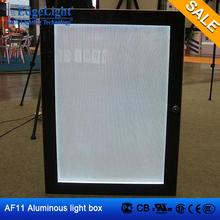 Edgelight AF11 lateral doble aluminoso venta al por mayor del marco puerta abierta grande advertising display caja de luz luces