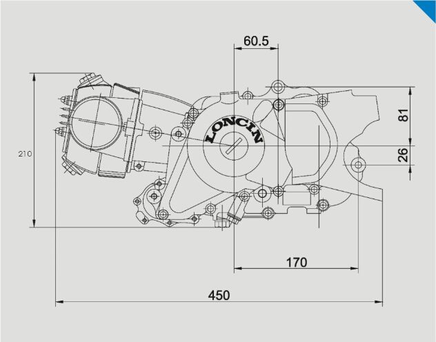 loncin high quality 110cc atv engine 4-stroke