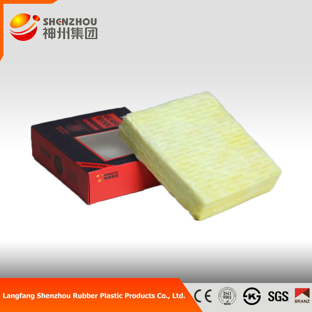 Glass wool board with fiberglass mat for wall or roof for Glass fiber board insulation