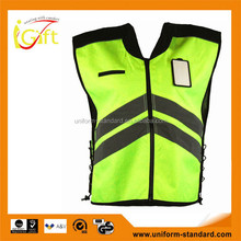 High quality roadway protective high visibility reflective vest motorcycle