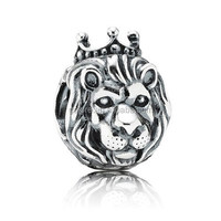 custom made wholesale silver lion european beads in bulk.