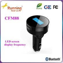 Black Bluetooth FM Transmitter & car charger usb with microphone MP3 & Portable Call Functionality