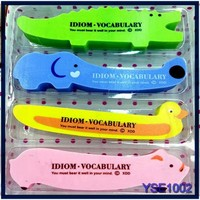 Korean Style office stationery gift 4 in one set long cartoon pig animal eraser