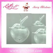 X'mas apple new christmas glass ball,Personalized clear xmas ball,New design clear christmas decoration