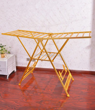 aluminium alloy Folding indoor and outdoor clothes drying rack with wings