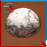 nice business gift print world map mgnify crystal dome paperweight