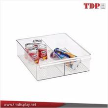 Handmade Acrylic beverage tray,acrylic fridge food tray for supermarket manufacture