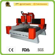 Piedra máquina de corte de chapa ql-1218 piedra mesa de corte de sierra 3d máquina de corte de piedra cnc router
