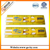 Promotion 15cm plastic ruler set with OEM designed logo and competitive price