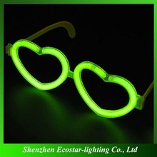 Wholesale Fluorescent Glasses China Supply Heart Shape Fluorescent Glasses