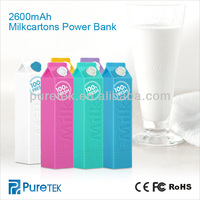2600mAh milk power bank charger station as for Christmas
